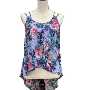 ☀️4/25 Jo & Co Floral Strappy Button-Front Tank